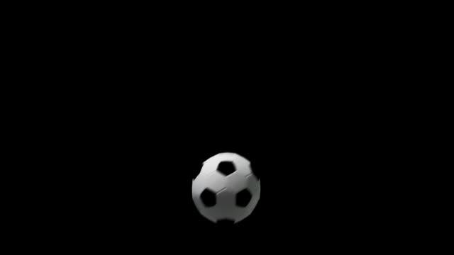 サッカーボールの 3 つの移行効果音 - サッカークラブ点の映像素材/bロール