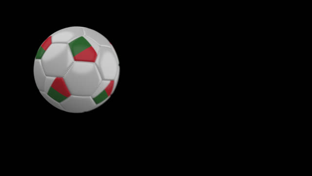 8dea53e9b Soccer ball with flag Madagascar, slow motion blur, 4k footage with alpha  channel video