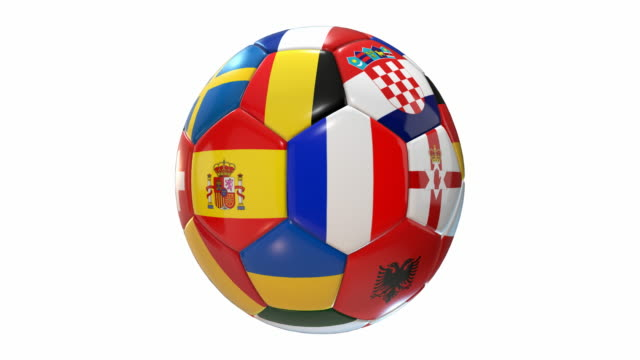 Soccer Ball with Flags | Loopable - 4K video