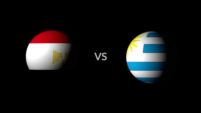 vídeos de stock, filmes e b-roll de egipto vs uruguai equipes de competição de futebol, nacional - futebol internacional