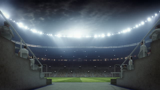 Soccer: Entering stadium from players zone