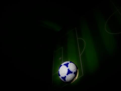 fußballplatz mit ball animation - sportliga stock-videos und b-roll-filmmaterial