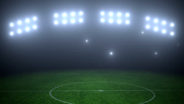 Soccer field Soccer field video with photo flashes floodlight stock videos & royalty-free footage