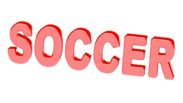vídeos de stock e filmes b-roll de soccer. footage with 4k resolution has alpha channel. - liga desportiva