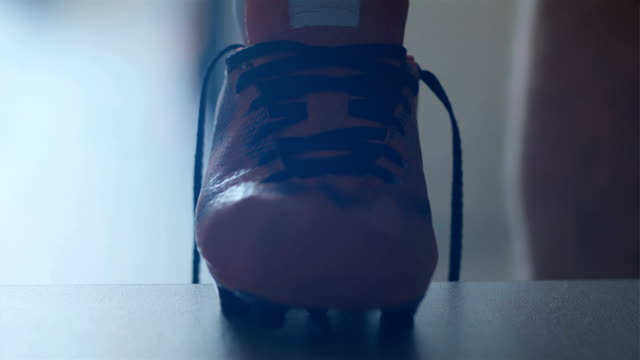 Soccer Football Player Put On His Shoes Slow Motion Stock Video   More  Clips of 4K Resolution 955208724  59d790fd390