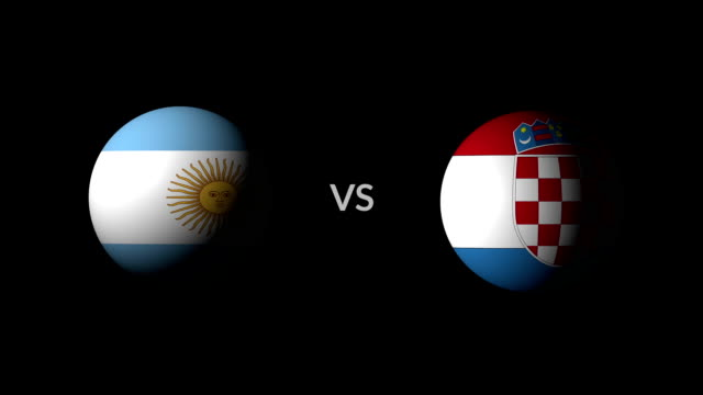 vídeos de stock, filmes e b-roll de futebol jogo argentina vs croácia - campeonato esportivo