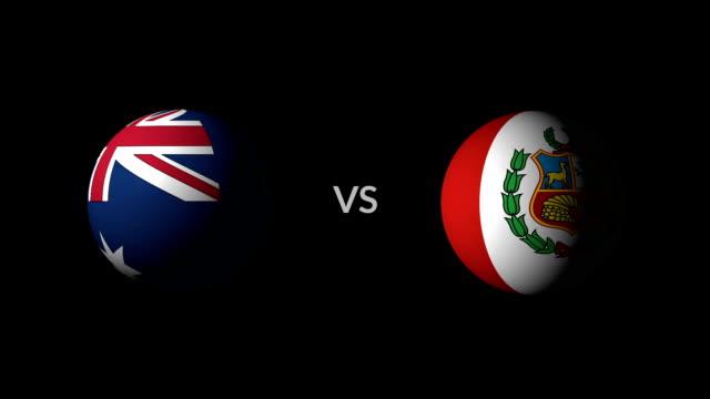 サッカー ゲーム オーストラリア対ペルー - サッカークラブ点の映像素材/bロール