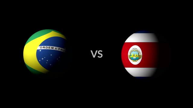 vídeos de stock, filmes e b-roll de futebol jogo brasil x costa rica - campeonato esportivo