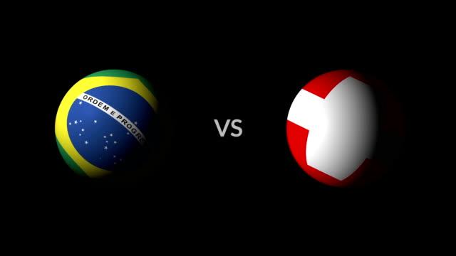 vídeos de stock, filmes e b-roll de futebol jogo brasil vs suíça - futebol internacional