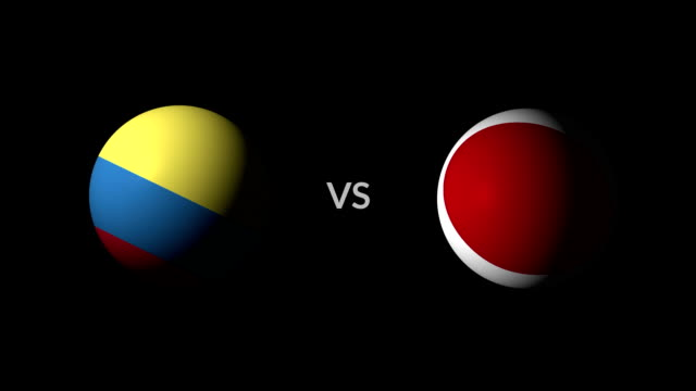 stockvideo's en b-roll-footage met voetbal spel colombia vs japan - sportcompetitie