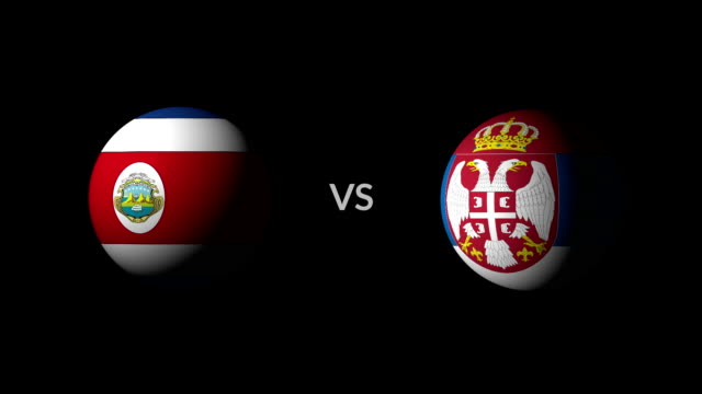 vídeos de stock, filmes e b-roll de futebol jogo costa rica vs sérvia - futebol internacional