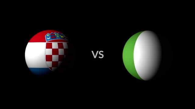 stockvideo's en b-roll-footage met voetbal spel kroatië vs nigeria - sportcompetitie