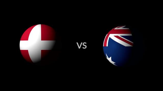 サッカー ゲーム デンマーク対オーストラリア - サッカークラブ点の映像素材/bロール
