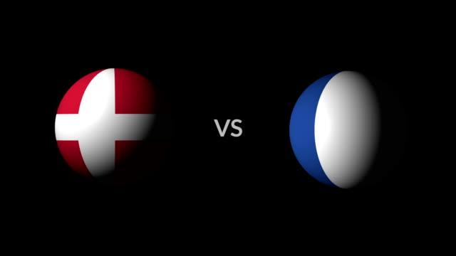 サッカー ゲーム デンマーク対フランス - サッカークラブ点の映像素材/bロール