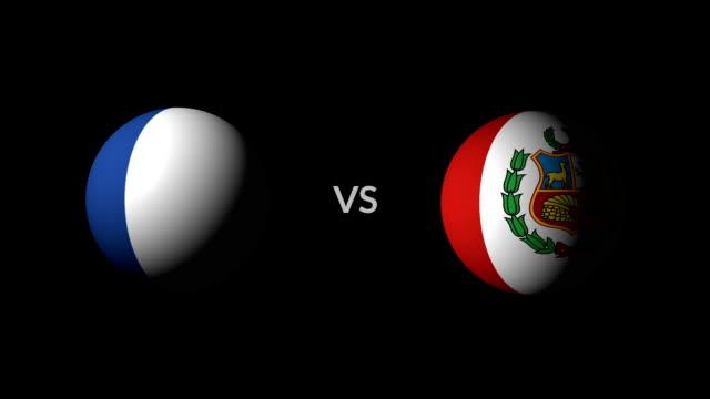 vídeos de stock e filmes b-roll de soccer game france vs peru - liga desportiva