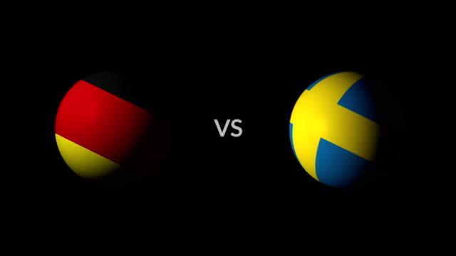 サッカー ゲームのドイツ vs スウェーデン - サッカークラブ点の映像素材/bロール