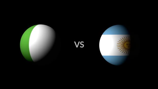 サッカー ゲーム ナイジェリア vs アルゼンチン - サッカークラブ点の映像素材/bロール