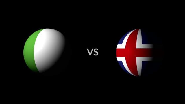 vídeos de stock, filmes e b-roll de futebol jogo nigéria vs islândia - campeonato esportivo