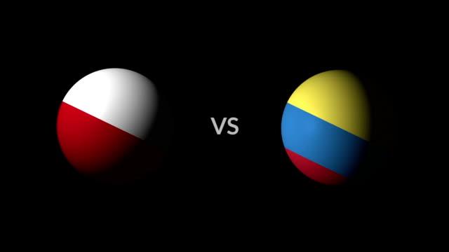 vídeos de stock, filmes e b-roll de futebol jogo polónia vs colômbia - campeonato esportivo
