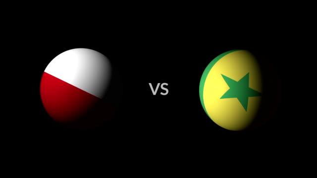 vídeos de stock, filmes e b-roll de futebol jogo polónia vs senegal - futebol internacional