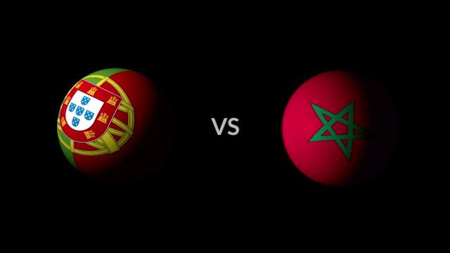 vídeos de stock, filmes e b-roll de futebol jogo portugal vs marrocos - campeonato esportivo