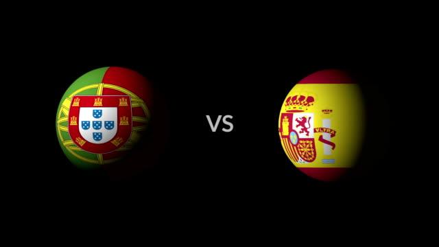 vídeos de stock, filmes e b-roll de futebol jogo portugal vs espanha - futebol internacional