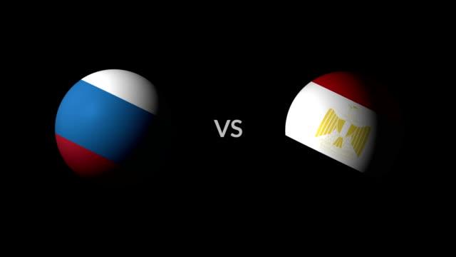 vídeos de stock e filmes b-roll de soccer game russia vs egypt - liga desportiva
