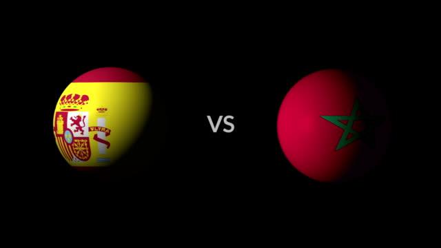 サッカー ゲームのスペイン対モロッコ - サッカークラブ点の映像素材/bロール