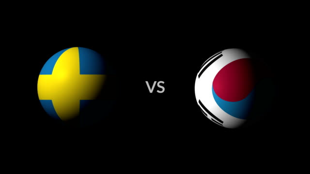 fußball spiel schweden vs south korea - sportliga stock-videos und b-roll-filmmaterial