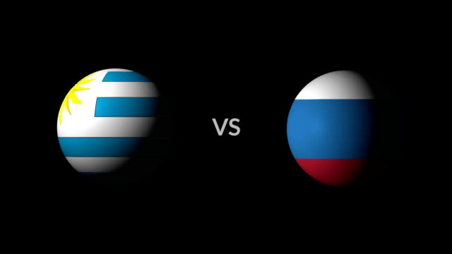 vídeos de stock, filmes e b-roll de futebol jogo uruguai vs rússia - campeonato esportivo