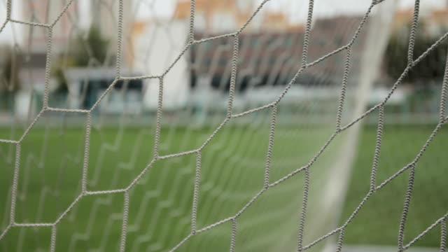 Soccer gate net.  Close-up shot video