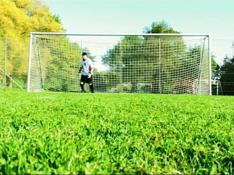 サッカーの目標 - サッカークラブ点の映像素材/bロール