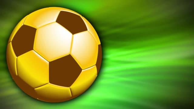 stockvideo's en b-roll-footage met voetbal gouden bal sport achtergrond - kampioenschap