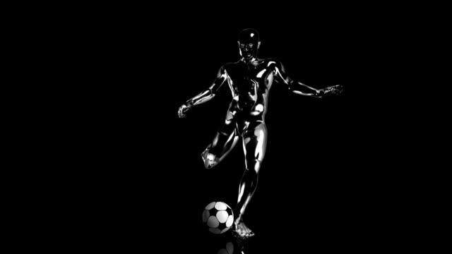 3D soccer kick man