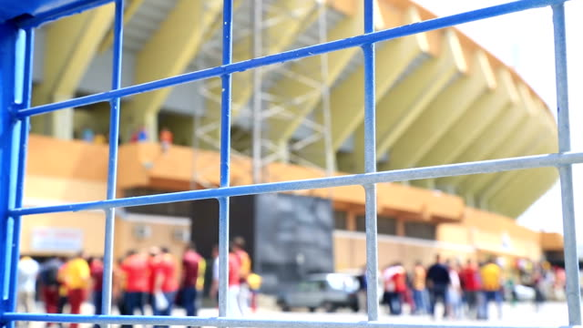 Soccer match entrance queue video