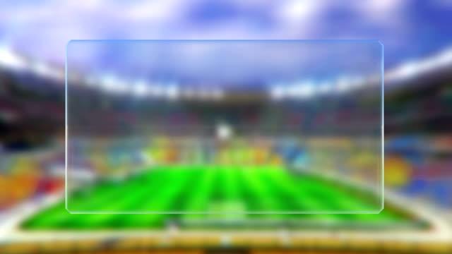 vidéos et rushes de fondu enchaîné match de football table - ligue sportive