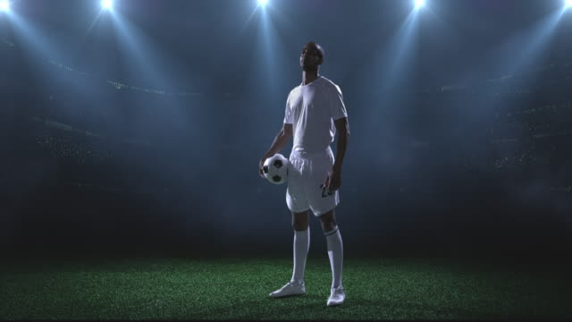 Soccer player  in stadium video