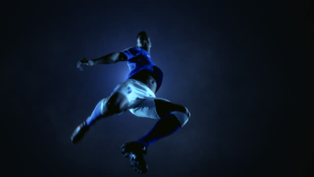 Soccer Player Kicking Ball video