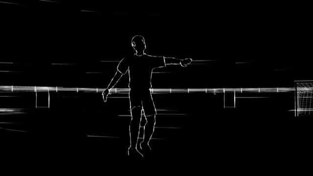 stockvideo's en b-roll-footage met soccer player - menselijk been
