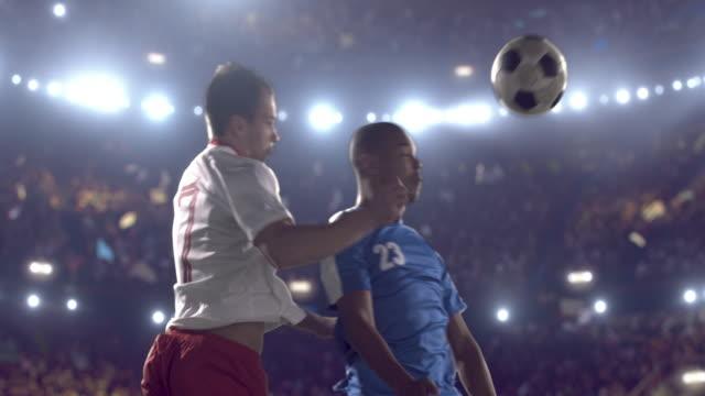 サッカー選手にスタジアム - サッカー点の映像素材/bロール