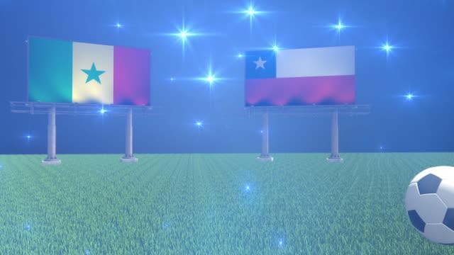 soccer senegal versus chile - senegal video stock e b–roll