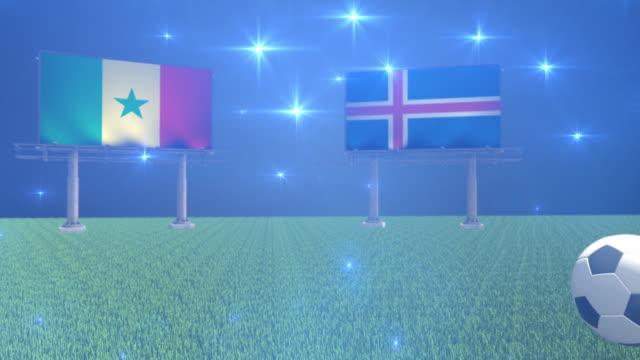 soccer senegal versus iceland - senegal video stock e b–roll