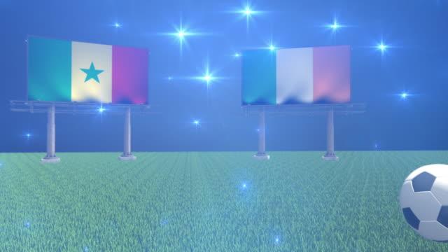 soccer senegal versus ireland - senegal video stock e b–roll