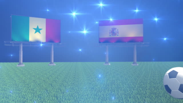 soccer senegal versus spain - senegal video stock e b–roll