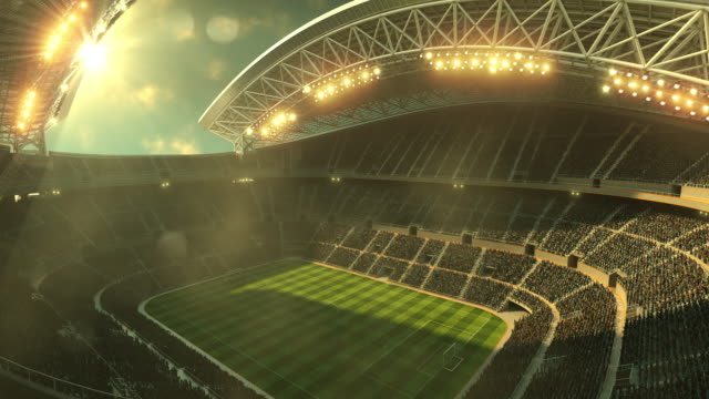 Soccer stadium with moving lights video