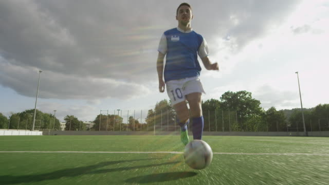 Soccer training on playing field video