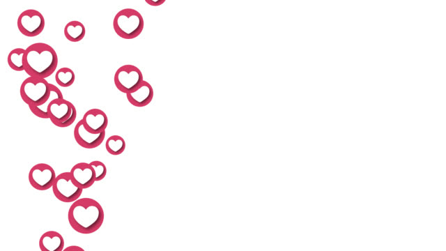 animazione icona cuore amore sociale. - icona dei social network video stock e b–roll