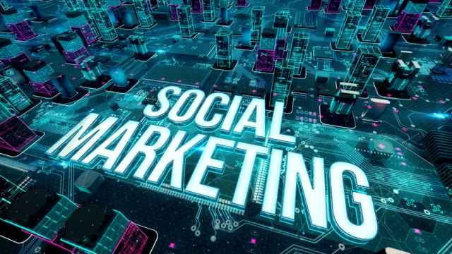 Social Marketing with digital technology concept Digital city, diversity of business, technology and internet concept digital marketing stock videos & royalty-free footage