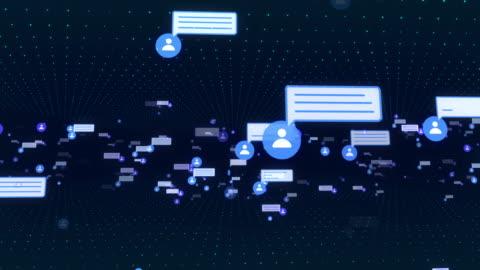 4k social media und netzwerk - kommunikation themengebiet stock-videos und b-roll-filmmaterial