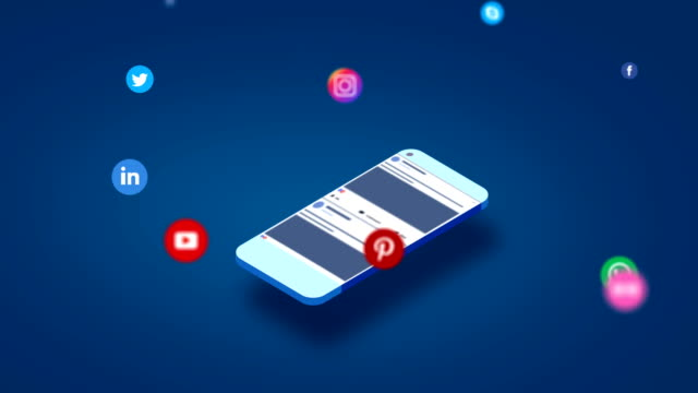 4K Social media apps on a smartphone